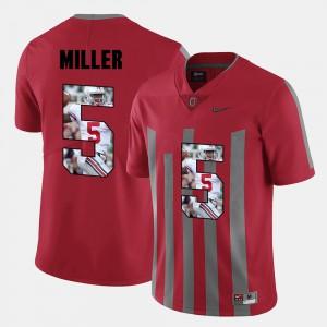 Pictorial Fashion #5 Red Men Braxton Miller OSU Jersey 479154-254