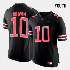 #10 Youth Black College Football CaCorey Brown OSU Jersey 684903-984