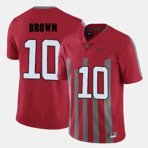 #10 College Football Men CaCorey Brown OSU Jersey Red 303282-499