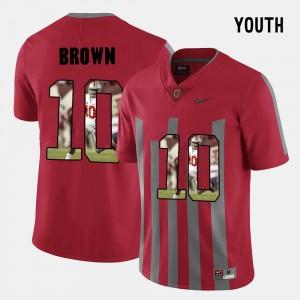 #10 Kids Pictorial Fashion CaCorey Brown OSU Jersey Red 274731-926