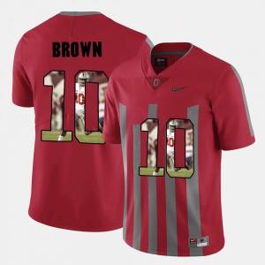 Red Pictorial Fashion CaCorey Brown OSU Jersey #10 Men 495277-363