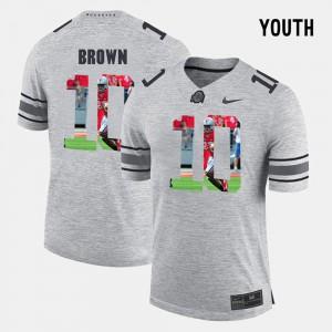CaCorey Brown OSU Jersey Pictorial Gridiron Fashion #10 Gray Pictorital Gridiron Fashion For Kids 456783-577