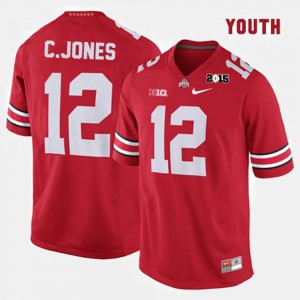 Red Cardale Jones OSU Jersey College Football #12 Youth(Kids) 838720-495