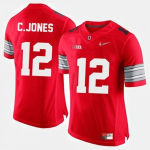 College Football Cardale Jones OSU Jersey Red #12 For Men's 368387-556