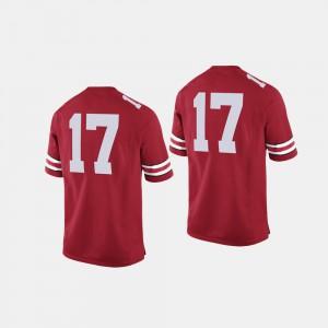 College Football Scarlet Mens #17 OSU Jersey 298268-299