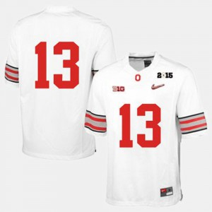 College Football Men's White #13 OSU Jersey 158056-784