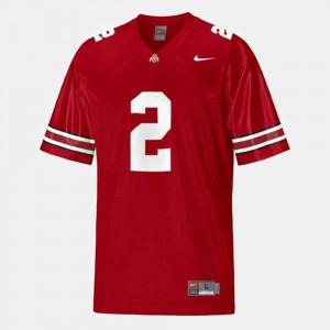 Red #2 College Football Mens Cris Carter OSU Jersey 687712-731