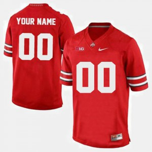 College Football OSU Customized Jersey Red For Men's #00 735749-621