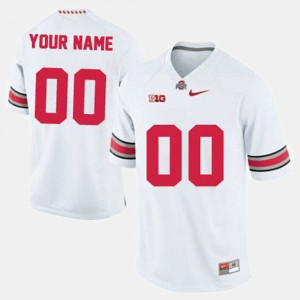 OSU Customized Jersey White For Men's College Football #00 384382-999