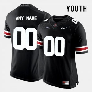 Black College Limited Football #00 Youth(Kids) OSU Customized Jersey 427684-626