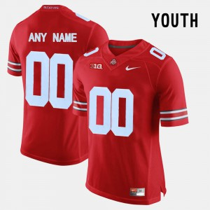 College Limited Football OSU Customized Jersey Red #00 Youth(Kids) 916593-673