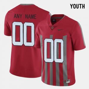 #00 Throwback OSU Custom Jerseys For Kids Red 293326-417
