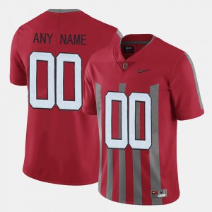OSU Customized Jersey Red #00 Throwback For Men's 224617-624