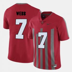 #7 College Football Damon Webb OSU Jersey Red Mens 943328-672