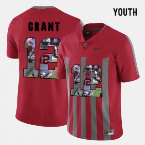 #12 Red Doran Grant OSU Jersey Youth(Kids) Pictorial Fashion 702925-182