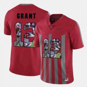 Men's Doran Grant OSU Jersey Red Pictorial Fashion #12 530779-508