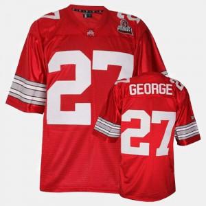 Eddie George OSU Jersey College Football #27 Mens Red 782091-521