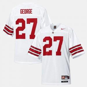 College Football Men's #27 White Eddie George OSU Jersey 691512-431