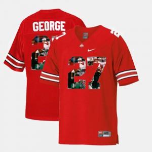 #27 Eddie George OSU Jersey Throwback Scarlet Men's 356099-871