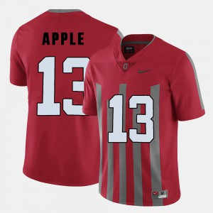 #13 For Men's Red Eli Apple OSU Jersey College Football 192799-252