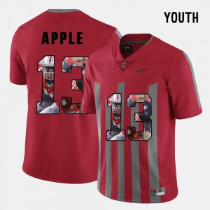 Eli Apple OSU Jersey Red #13 Kids Pictorial Fashion 799703-234