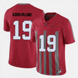 Red Eric Glover-Williams OSU Jersey College Football Men's #19 633403-834