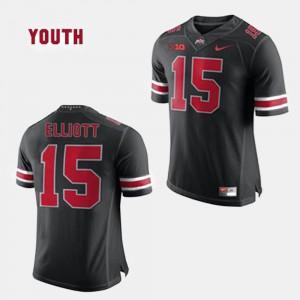 Kids #15 College Football Ezekiel Elliott OSU Jersey Black 988907-911