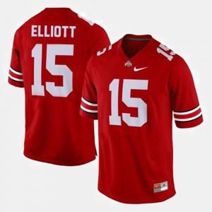 Red Ezekiel Elliott OSU Jersey For Men's #15 College Football 289424-485