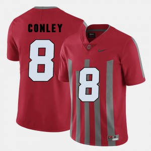 Mens #8 Red College Football Gareon Conley OSU Jersey 809718-413