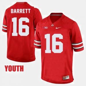 #16 College Football Red Youth(Kids) J.T. Barrett OSU Jersey 167395-837