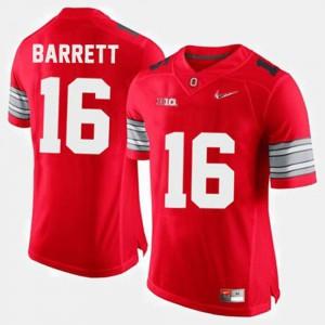 Red College Football #16 Mens J.T. Barrett OSU Jersey 300645-652