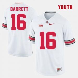 White J.T. Barrett OSU Jersey Youth(Kids) College Football #16 333943-338