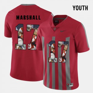 Pictorial Fashion Jalin Marshall OSU Jersey Red #17 Youth(Kids) 187764-983