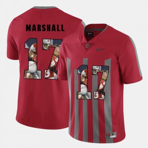 Red Men Jalin Marshall OSU Jersey Pictorial Fashion #17 944175-758