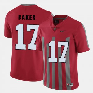 College Football Jerome Baker OSU Jersey Red Men's #17 242528-575