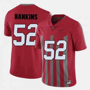 College Football For Men's #52 Johnathan Hankins OSU Jersey Red 762786-472