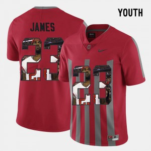 For Kids Pictorial Fashion Red Lebron James OSU Jersey #23 766460-983