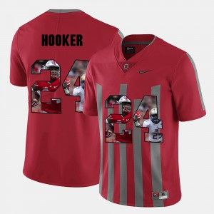 Red Men's Pictorial Fashion #24 Malik Hooker OSU Jersey 909746-340
