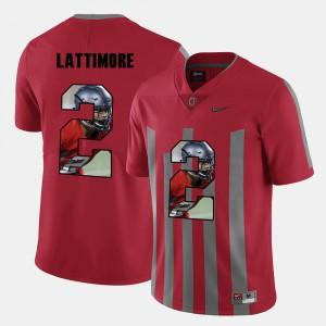#2 Marshon Lattimore OSU Jersey For Men's Red Pictorial Fashion 632479-661