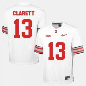 For Men's White Maurice Clarett OSU Jersey #13 College Football 947875-283