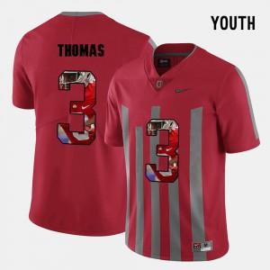 Michael Thomas OSU Jersey #3 Pictorial Fashion Kids Red 997700-848