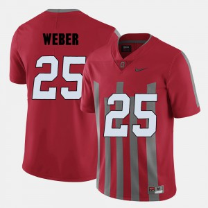 #25 Mens Red Mike Weber OSU Jersey College Football 586379-942