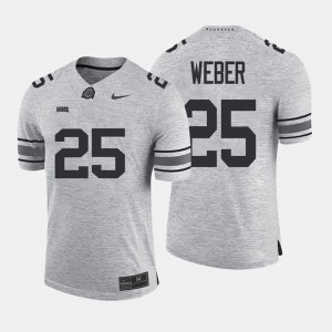 Gridiron Limited For Men Gray Gridiron Gray Limited #25 Mike Weber OSU Jersey 586396-553