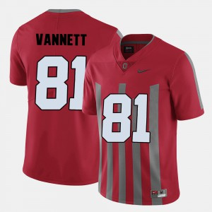Red Mens Nick Vannett OSU Jersey #81 College Football 689334-324
