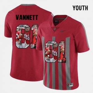 #81 Red Pictorial Fashion Nick Vannett OSU Jersey Youth 317491-178