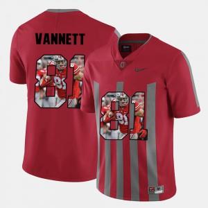 #81 For Men Nick Vannett OSU Jersey Red Pictorial Fashion 727334-698