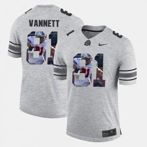 #81 Gray Men Nick Vannett OSU Jersey Pictorial Gridiron Fashion Pictorital Gridiron Fashion 319491-614