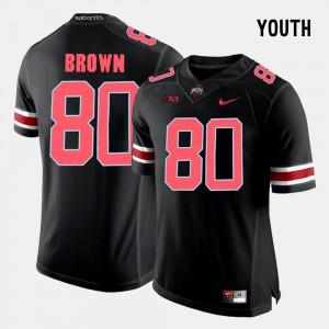 Black Youth(Kids) Noah Brown OSU Jersey #80 College Football 344523-189