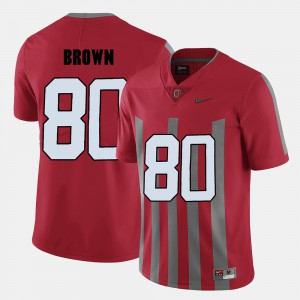 For Men's #80 Red Noah Brown OSU Jersey College Football 205820-695