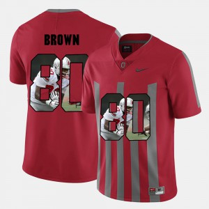 Noah Brown OSU Jersey Pictorial Fashion Mens Red #80 417702-550